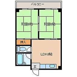 兵庫県尼崎市尾浜町1丁目の賃貸マンションの間取り