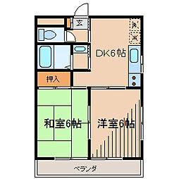 サンモールシブヤ[1階]の間取り