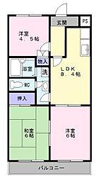 草愛マンションC[1階]の間取り