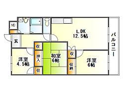 セントラルレジデンシャル[4階]の間取り