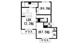 オーキッドガーデン[1階]の間取り