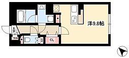 WELLCOURT NAKAMURA-KOUEN 5階ワンルームの間取り