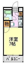 TOP蘇我[206号室]の間取り
