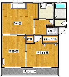 宮城県仙台市青葉区高松2丁目の賃貸アパートの間取り