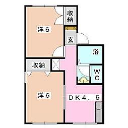 パインハウス[103    号室]の間取り