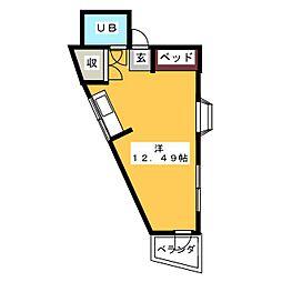 カーサ松本[3階]の間取り