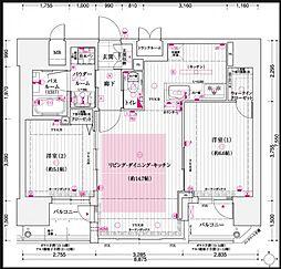 エステムプラザ梅田[8階]の間取り