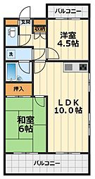 神奈川県大和市柳橋5丁目の賃貸マンションの間取り