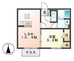 コアロードIII[1階]の間取り