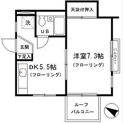 東京都豊島区目白4丁目の賃貸マンションの間取り