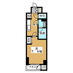 リエトコート塩小路堀川[6階]の間取り