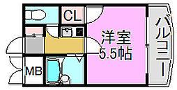 リヴィエール弐番館[2階]の間取り