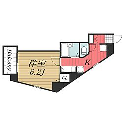 千葉県千葉市中央区松波2丁目の賃貸マンションの間取り