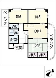 エクセレントJ1[3階]の間取り