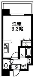(仮称)都島本通4丁目新築マンション 3階ワンルームの間取り