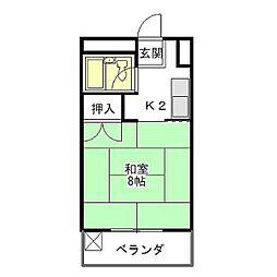 コート江戸橋[2階]の間取り