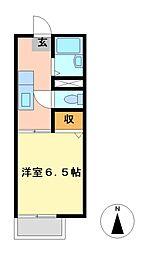 愛知県名古屋市東区徳川2丁目の賃貸アパートの間取り