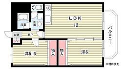 大阪府吹田市春日4丁目の賃貸マンションの間取り