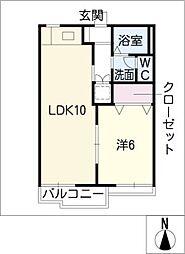 サワディみゆき[2階]の間取り
