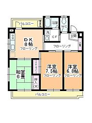 TS川越 E棟[3階]の間取り