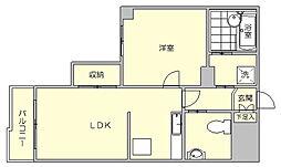 パインヒルズ美野島[7階]の間取り