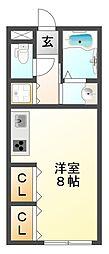 兵庫県神戸市垂水区城が山4丁目の賃貸アパートの間取り