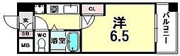 ホープシティー天神橋[B313号室]の間取り