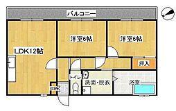 コートパル戸塚[4階]の間取り