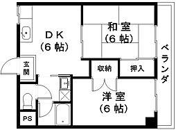 万石No.6[2階]の間取り