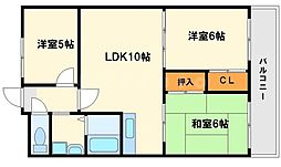 メゾン稲津[4階]の間取り