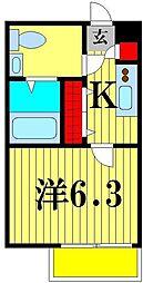 千葉県松戸市南花島4の賃貸アパートの間取り