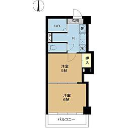 新潟県新潟市中央区紫竹山2丁目の賃貸マンションの間取り