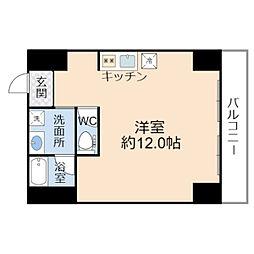 JO-KITA TERRACE 4階1Kの間取り