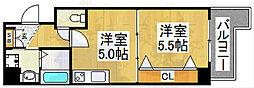 宿院西TKハイツ1号館[2階]の間取り