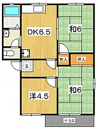 メゾンOZAWA(高田)[102号室号室]の間取り
