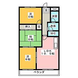 サワダハイツ[3階]の間取り