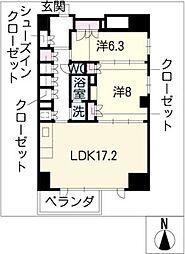 エスティメゾン葵[13階]の間取り