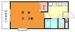 カーム松香台[2階]の間取り