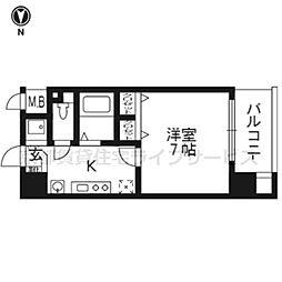 スワンズ京都五条大宮[5階]の間取り