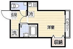 東京都渋谷区代々木1丁目の賃貸アパートの間取り