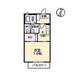 プランタン A棟[2階]の間取り