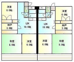 ポートブリッジマンション[2階]の間取り