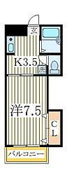 ハイムまことB棟[2階]の間取り