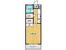 神奈川県川崎市多摩区菅北浦3の賃貸アパートの間取り