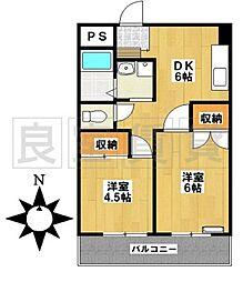愛知県名古屋市昭和区川原通6丁目の賃貸マンションの間取り