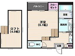 アトモスフェレ[105号室]の間取り