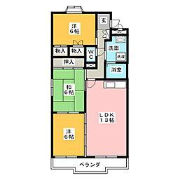 フォレストサイドK−III[2階]の間取り