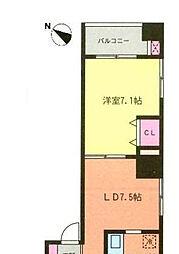 東京都中央区日本橋人形町1丁目の賃貸マンションの間取り