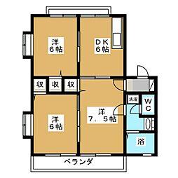 レトア新西方A−4[1階]の間取り
