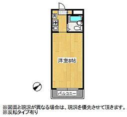 ラヴィエ新宿[307号室]の間取り